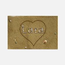 Lara Beach Love Rectangle Magnet