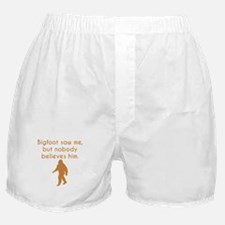 Bigfoot Saw Me Boxer Shorts