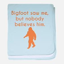 Bigfoot Saw Me baby blanket