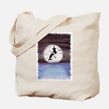 Halloween Witch in Moonlight Tote Bag