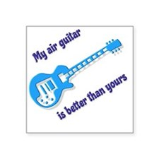 "Air Guitar Square Sticker 3"" x 3"""