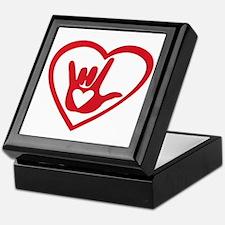I love you with all my heart Keepsake Box