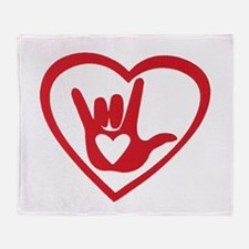 I love you with all my heart Throw Blanket