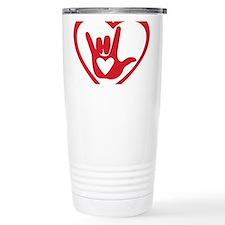 I love you with all my heart Travel Mug