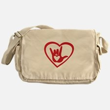 I love you with all my heart Messenger Bag