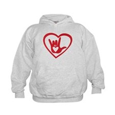 I love you with all my heart Hoodie