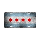 Chicago flag License Plates