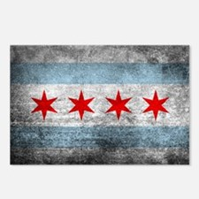 Cute Chicago flag Postcards (Package of 8)