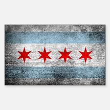 Cute Chicago flag Decal