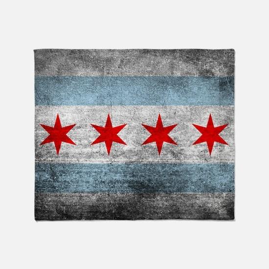 Cute Chicago flag Throw Blanket