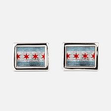 Unique Chicago Rectangular Cufflinks