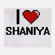 I Love Shaniya Throw Blanket