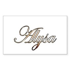 Gold Alysa Decal