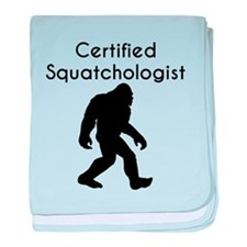Certified Squatchologist baby blanket