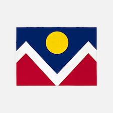 Flag of Denver Colorado 5'x7'Area Rug