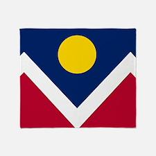 Flag of Denver Colorado Throw Blanket