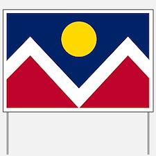 Flag of Denver Colorado Yard Sign