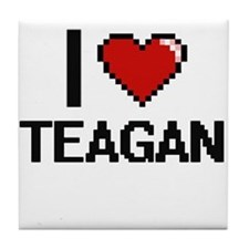 I Love Teagan Tile Coaster