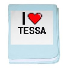 I Love Tessa baby blanket