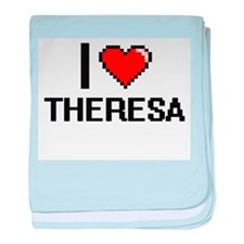 I Love Theresa baby blanket