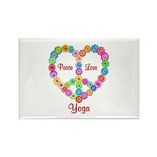 Yoga Peace Love Rectangle Magnet