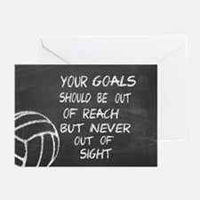Your Goals Volleyball Motivational Greeting Cards
