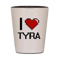 Funny Tyra Shot Glass