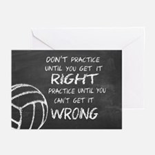 Practice Volleyball Motivational Greeting Cards