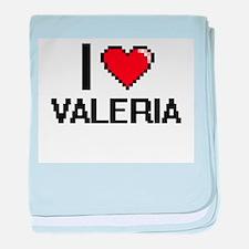 I Love Valeria baby blanket
