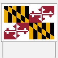 State Flag of Maryland Yard Sign