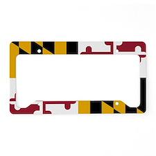 State Flag of Maryland License Plate Holder