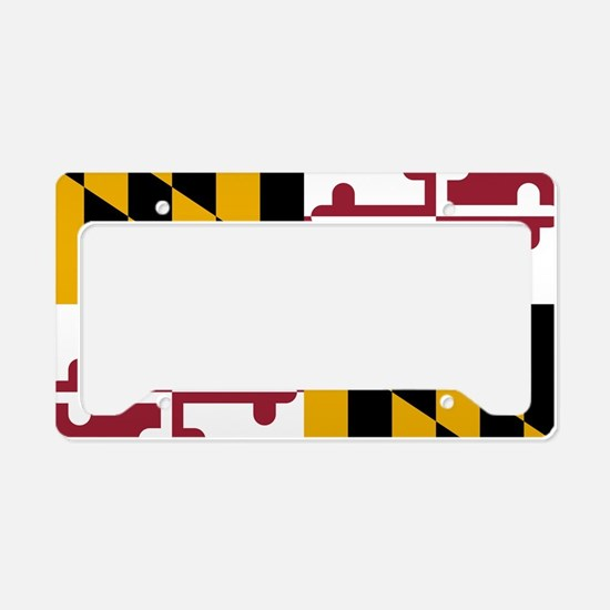 State Flag of Maryland License Plate Holder