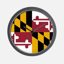 State Flag of Maryland Wall Clock