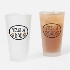 Vizsla Dad Oval Drinking Glass