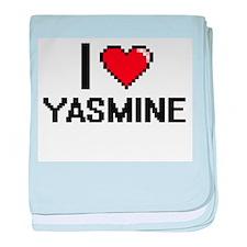 I Love Yasmine baby blanket