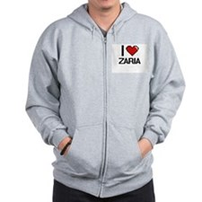 I Love Zaria Zipped Hoody