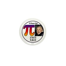 Pi Day 3 14 15 With Albert Mini Button (10 Pack)