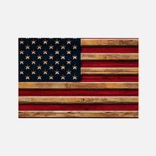 American Flag Vintage Distressed Wood Magnets