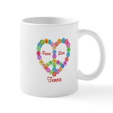 Tennis Peace Love Mug