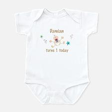 Damian turns 1 today Infant Bodysuit