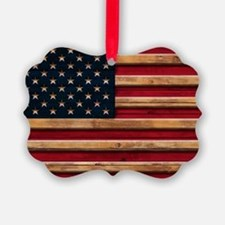 American Flag Vintage Distressed Ornament