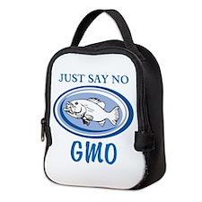 No GMO Fish Neoprene Lunch Bag