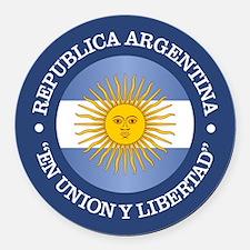 Argentine Republic Round Car Magnet