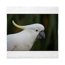 Cute White Cockatoo Queen Duvet