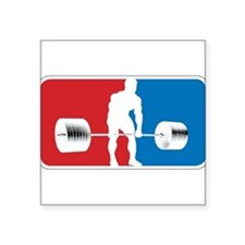 "Cute Powerlifting Square Sticker 3"" x 3"""