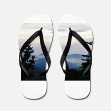 Smoky Mountain Sunrise Flip Flops