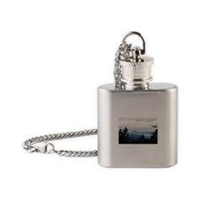 Smoky Mountain Sunrise Flask Necklace
