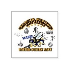 "Navy - Seabee - Rates Square Sticker 3"" X 3&q"