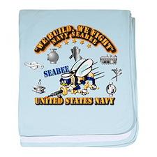Navy - Seabee - Rates baby blanket