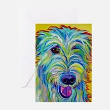 Cute Irish wolfhound Greeting Cards (Pk of 20)